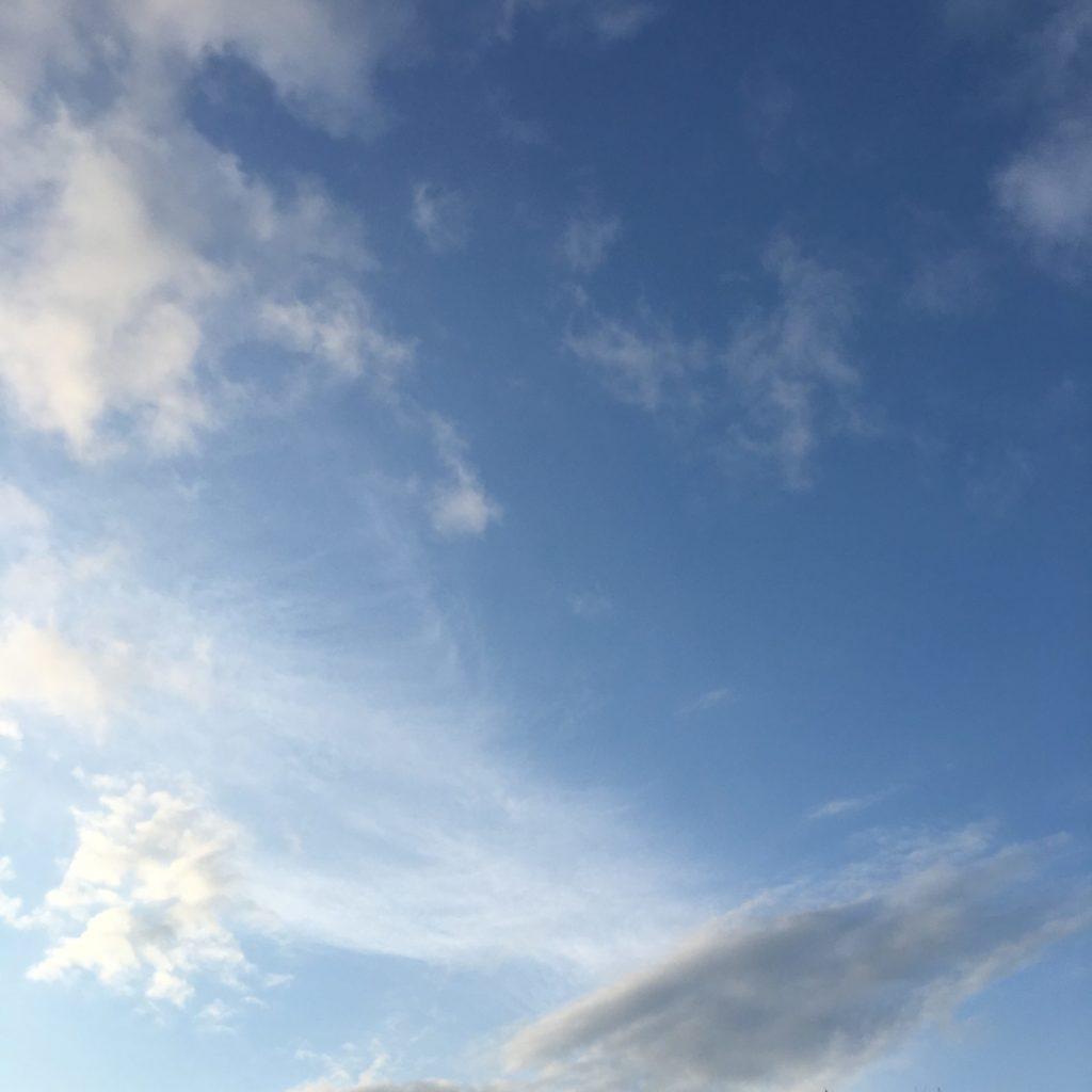 心を決めた時の空の写真