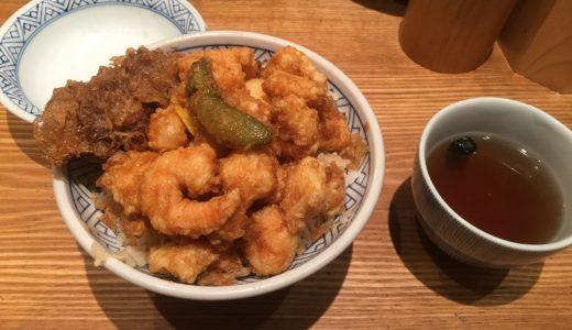 赤坂の天丼金子屋さんで天ばら丼を食べてきた!